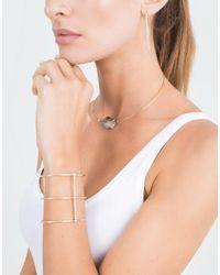 Mizuki - Metallic Open Marquis Diamond Hoop Earrings - Lyst
