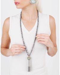Silvia Furmanovich | Marquetry Light Blue Tassel Necklace | Lyst
