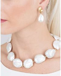 Yvel - Multicolor White Baroque Freshwater Pearl Drop Earrings - Lyst