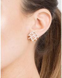 Dana Rebecca - Metallic Lori Page Diamond Pave Huggie Earrings - Lyst