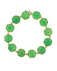 Irene Neuwirth - Green Cabochon Chrysoprase Bracelet - Lyst