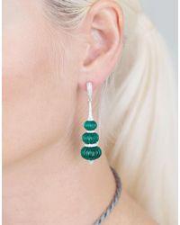 Inbar - Green Carved Fluorite Earrings - Lyst