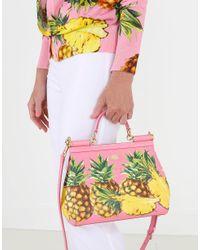 Dolce & Gabbana - Multicolor Pineapple Print Miss Sicily - Lyst