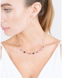 Mattia Cielo - Pink Rugiada Diamond Hoop Earrings - Lyst