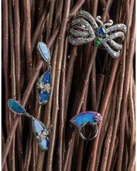 Wendy Yue - Blue Tanzanite And Opal Butterfly Cuff Bracelet - Lyst