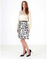 Oscar de la Renta | Multicolor Fil Coupe Floral Skirt | Lyst