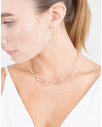 Mattia Cielo - Metallic Rugiada Diamond Hoop Earrings - Lyst