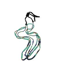 Royal Nomad Jewelry - Blue Two Strand Chrysoprase, Lapis, And Azurite Bead Necklace for Men - Lyst