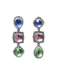 Larkspur & Hawk - Metallic Sadie 3 Drop Earrings - Lyst