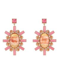 Larkspur & Hawk - Pink Cora Large Chandelier Earrings - Lyst
