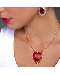Irene Neuwirth | Pink Bi-color Tourmaline Heart Necklace | Lyst