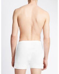 Marks & Spencer | White 2 Pack Pure Cotton Trunks With Staynewtm for Men | Lyst