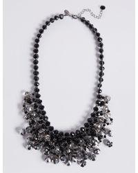 Marks & Spencer - Black Beaded Necklace - Lyst