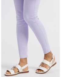 Marks & Spencer - Purple High Waist Super Skinny Jeans - Lyst