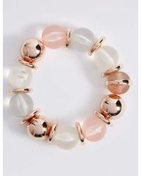 Marks & Spencer | Pink Assorted Bead Bracelet | Lyst