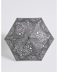 Marks & Spencer - Black Heart Print Umbrella With Stormweartm - Lyst