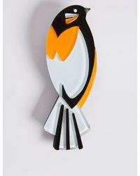 Marks & Spencer - Multicolor Resin Bird Brooch - Lyst