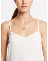 Marks & Spencer - Metallic Bling Circle Necklace - Lyst