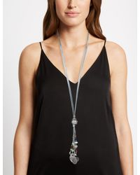 Marks & Spencer - Metallic Cord Y Charm Necklace - Lyst