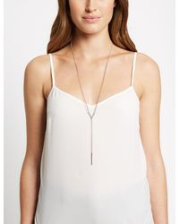 Marks & Spencer - Metallic Triangle Y Necklace - Lyst