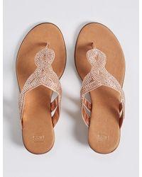 Marks & Spencer - Metallic Bling Wedge Mule Sandals - Lyst