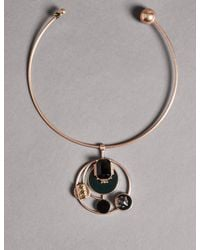 Marks & Spencer - Metallic Torque Circle Necklace - Lyst