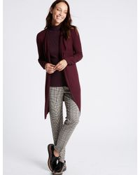 Marks & Spencer - Red Open Front Cardigan - Lyst