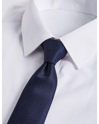 Marks & Spencer - Blue Textured Tie for Men - Lyst