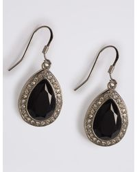Marks & Spencer - Multicolor Pave Pear Drop Earrings - Lyst