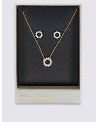 Marks & Spencer - Metallic Star Sparkle Necklace & Earrings Set - Lyst