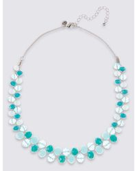 Marks & Spencer - Blue Twist Glass Necklace - Lyst