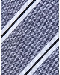 Marks & Spencer - Blue Modern Striped Tie for Men - Lyst