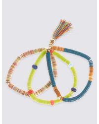 Marks & Spencer | Multicolor Triple Sequin Tassel Bracelet | Lyst