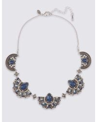 Marks & Spencer - Blue Moon Section Collar Necklace - Lyst