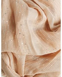 Marks & Spencer - Metallic Sequin Striped Scarf - Lyst