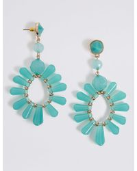 Marks & Spencer - Blue Spike Earrings - Lyst