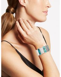 Marks & Spencer - Multicolor Silver Plated Abalone Shell Stretch Bracelet - Lyst