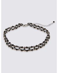 Marks & Spencer - Black Lattice Choker Necklace - Lyst