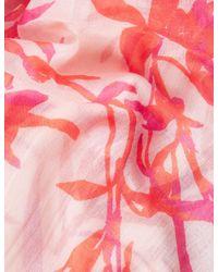 Marks & Spencer - Pink Floral Print Scarf - Lyst