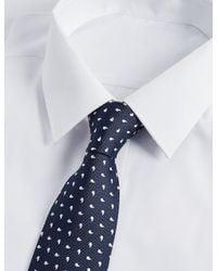 Marks & Spencer - Blue Pure Silk Geo Print Tie for Men - Lyst