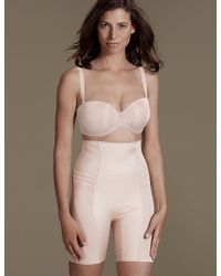 Marks & Spencer - Natural Firm Control Magicweartm Geometric Waist & Thigh Cincher - Lyst