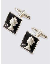 Marks & Spencer - Black Stamp Cufflinks for Men - Lyst