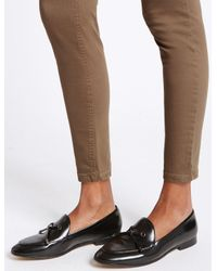 Marks & Spencer - Brown Mid Rise Super Skinny Leg Jeans - Lyst