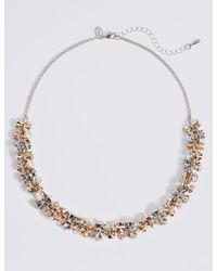 Marks & Spencer - Metallic Chunky Drum Sparkle Necklace - Lyst