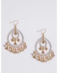 Marks & Spencer - Metallic Charming Drop Earrings - Lyst