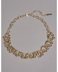 Marks & Spencer - Metallic Curly Chain Necklace - Lyst