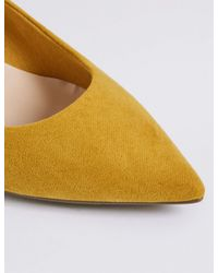 Marks & Spencer - Multicolor Kitten Heel Pointed Toe Court Shoes - Lyst