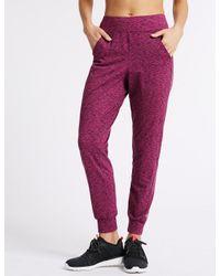 Marks & Spencer - Multicolor Brushed Slim Leg Joggers - Lyst