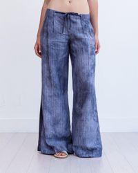 Marrakech | Blue Torres Wide Leg Linen Trouser | Lyst