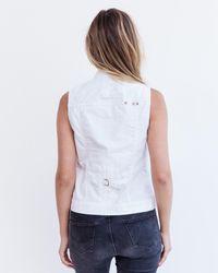 Marrakech - White Brea Mini Vest - Lyst